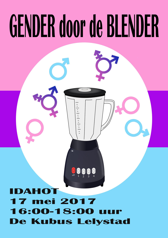 flyer Gender door de Blender 17 mei vrknt